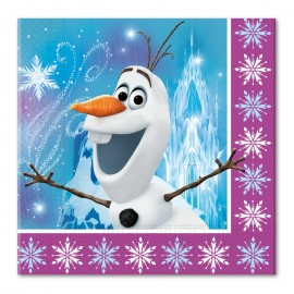 20 servilletas de Frozen para Cumpleaños 33 cm