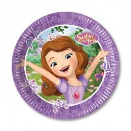 8 Platos Princesa Sofía 20 cm