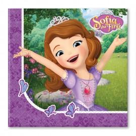 20 Servilletas Princesa Sofia 33 cm