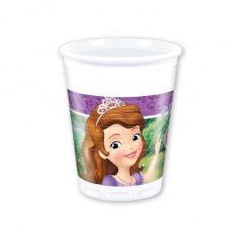 8 Vasos Princesa Sofía 200 ml