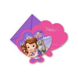 6 Invitaciones Princesa Sofía