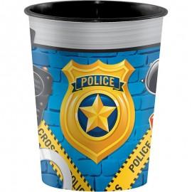 Vaso Police Party De Plastico 0,473 L