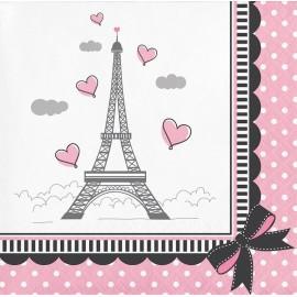 18 Servilletas Sweet 16 Paris 33 cm