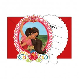 6 Invitaciones Elena de Avalor