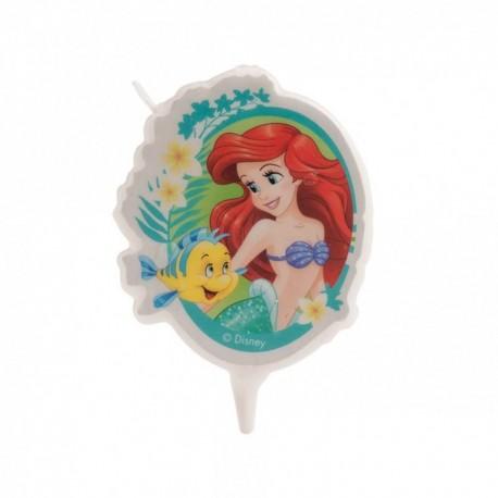 Vela 2D Cumpleaños Princesa Ariel 7,5 Cm