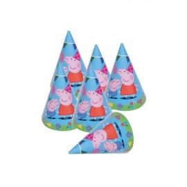 6 Gorros Peppa Pig