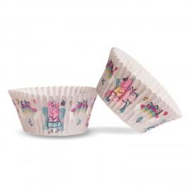 25 Cápsulas Peppa Pig para Cupcakes