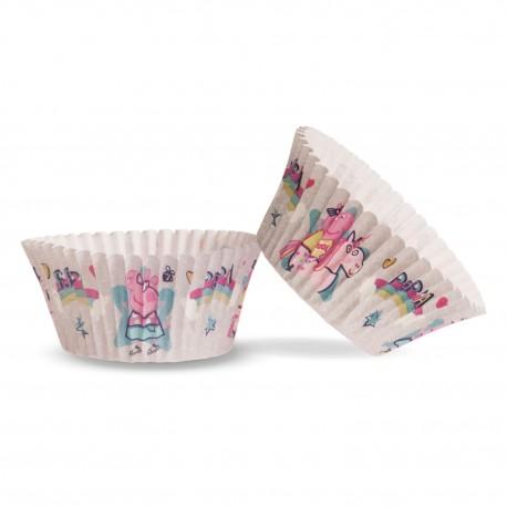 50 Cápsulas Peppa Pig para Cupcakes