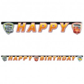 Guirnaldas Cars 3 Happy Birthday