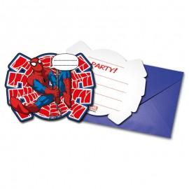 6 Invitaciones Spiderman