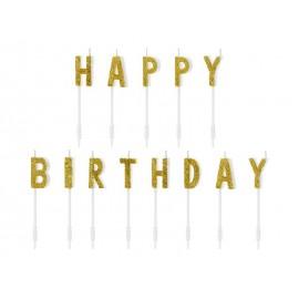Vela Purpurina Happy Birthday