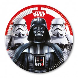 8 Platos Star Wars 23 cm