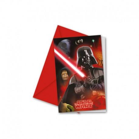 6 Invitaciones Star Wars