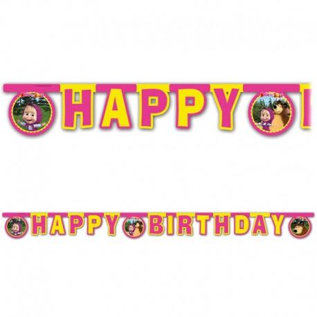 Guirnalda Happy Birthday Masha y el Oso