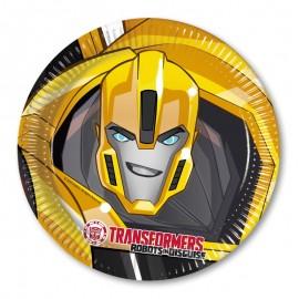8 Platos Transformers 23 cm