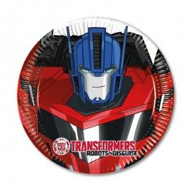 8 Platos Transformers 20 cm