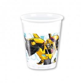 8 Vasos Transformers 200 ml