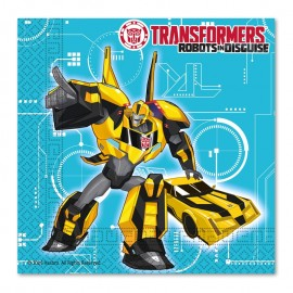 20 Servilletas Transformers 33 cm