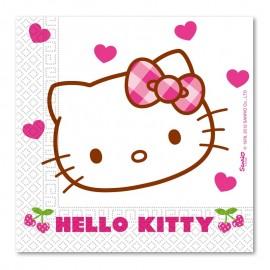20 Servilletas Hello Kitty 33 cm