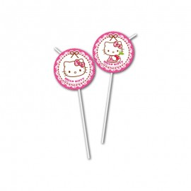 6 Pajitas Hello Kitty