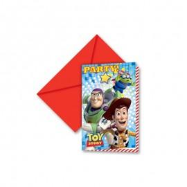 6 Invitaciones Toy Story