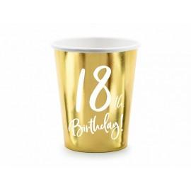 6 Vasos 18 Dorado 220 ml