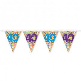 Banderín de Colores con Número 40 6 m
