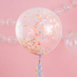 Globo con Confeti Color Pastel
