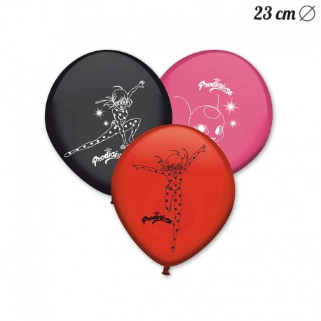 8 Globos Látex Lady Bug