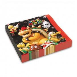 20 Servilletas Super Mario 33 cm