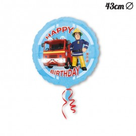 Globo Happy Birthday Sam el Bombero 43 cm