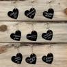 10 Etiquetas de Corazón con Cuerda