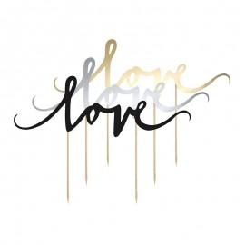 Topper Love para Tartas