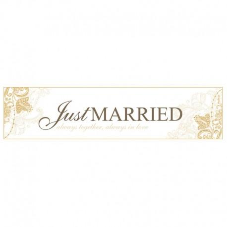 Matrícula Just Married Dorada