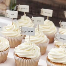 12 Toppers para Cupcake Vintage