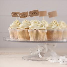 12 Toppers para Cupcake de Kraft