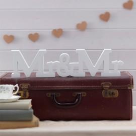 Letras para Bodas de Madera Mr y Mrs