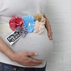 Cinturon Baby Shower de Flores