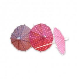 12 Sombrillas de Cóctel 10 cm