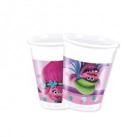 8 Vasos Trolls 200 ml