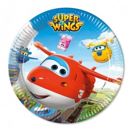 8 Platos Super Wings 23 cm