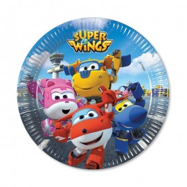 8 Platos Super Wings 18 cm