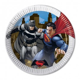 8 Platos SuperMan 23 cm