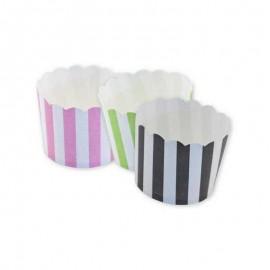 12 Envoltorios para Cupcake Rayas