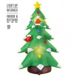 Árbol Navidad Hinchable Luminoso con Ventilador