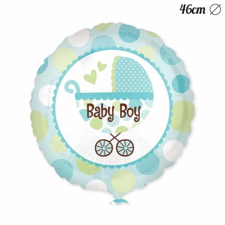 Globo Baby Shower Nino Con Carrito 46 Cm
