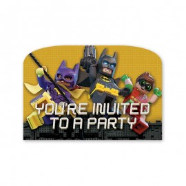 6 Invitaciones Lego Batman