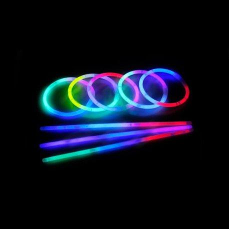 tienda pulseras fluorescentes online tricolor (100 uds)