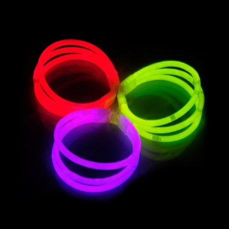 Pulseras luminosas Triples (33 uds)