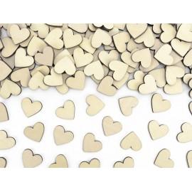 Corazones de madera 2 cm